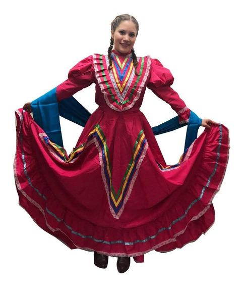 Vestido Jalisco Para Mujer Traje Típico Medio Vuelo