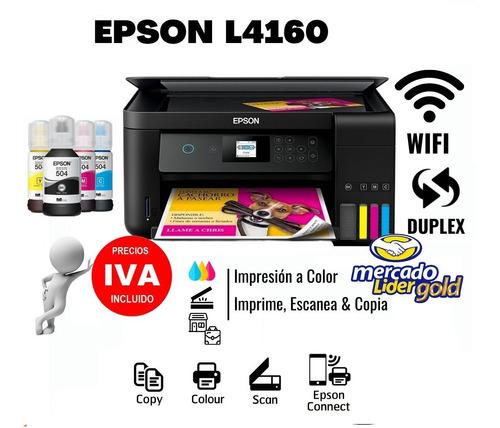 Imagen 1 de 8 de Epson L4160 Duplex Impresora Sistema Original Incl Iva Wifi