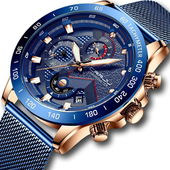 Reloj Acero Inoxidable Marca Original Cronometro Estuche Cj