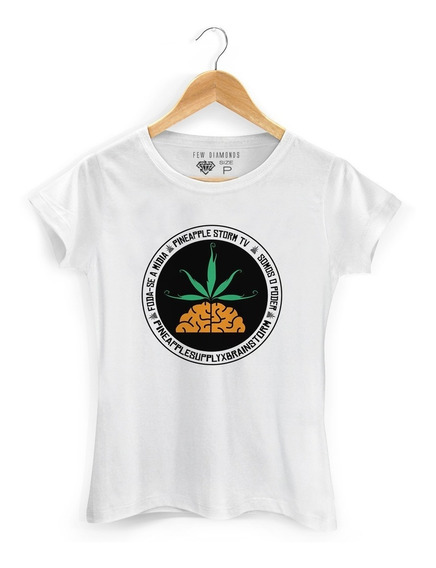Camiseta Feminina Poesia Acústica Mv Bill Pnpl Rap Pineapple