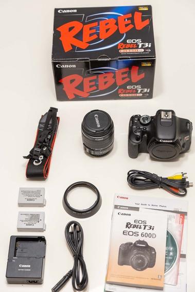Canon T3i+lente 18-55mm - Kit Completo Em Excelente Estado!