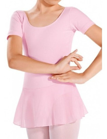 Collant Regata + Saia Novo - Ballet - Capezio Infantil Rosa