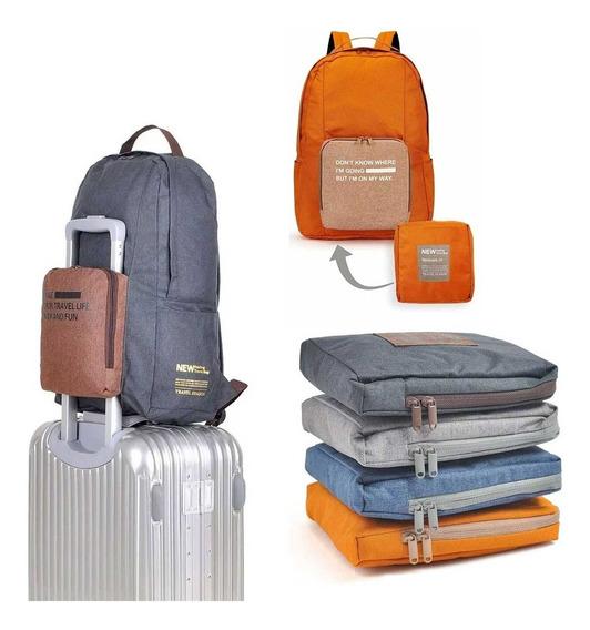 Mochila Plegable Compacta Reforzada 20 Litro Premium Viajes