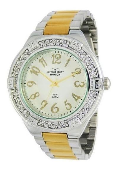 Relógio Backer Feminino Pulseira Aco Bicolor 3933134f Si