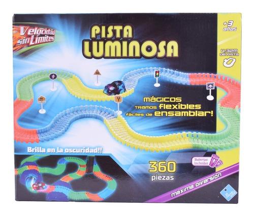 Pista Luminosa Flexible Velocidad Sin Límites 360 Piezas