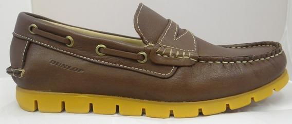 Zapato Mocasin Cuero Hombre Dunlop Smile 2645