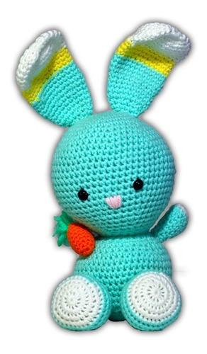 Imagen 1 de 7 de Kit Amigurumi Crochet Conejito Agujas Lanas Instrucciones