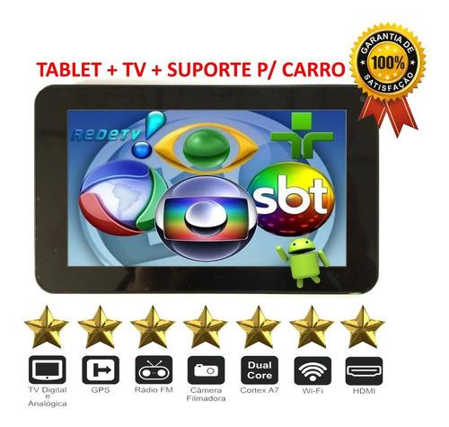 Tv Digital + Fm+ Gps + Tablet Android W-ifi 7  Suporte Carro