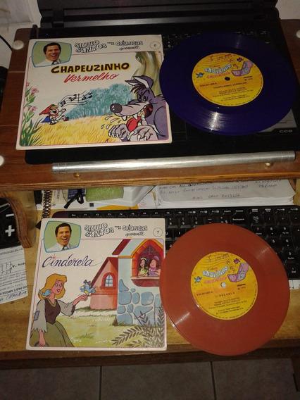 2 Disco De Vinil Chapeuzinho Vermelho E Cinderela 1976