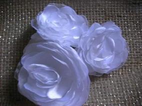 3 Flores De Tecido