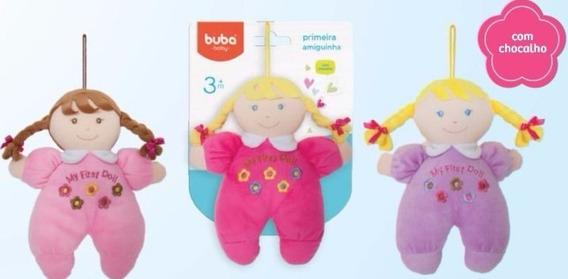 Boneca Macia P/ Bebê Com Chocalho 3 Modelos 24 Cm Promoção