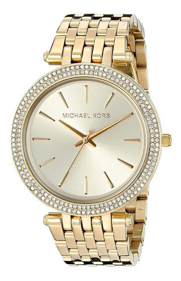 Michael Kors Mk3191 Darci Acero Cristales Oro Mujer Cuarzo