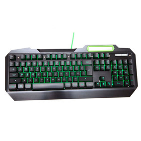 Teclado Gamer Multimidia Goldentec Pc Notebook Led Verde