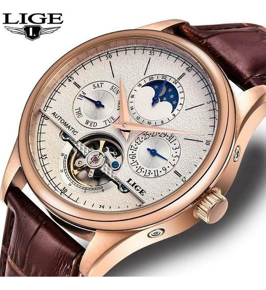Relógio Automático Masculino Lige 6826 Original 5 Atm