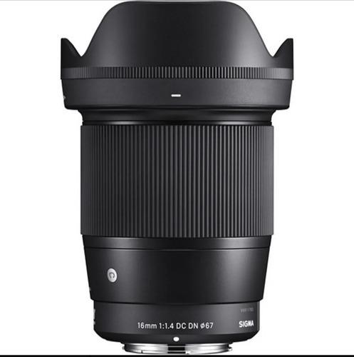 Lente Sony 16mm 1.4 Sigma