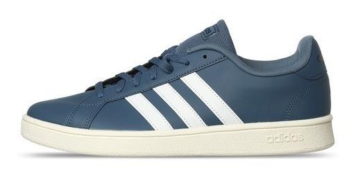 Tenis adidas Grand Court Base Ee7908 Azul Original