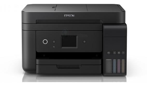Impressora a cor multifuncional Epson EcoTank L6191 com Wi-Fi 110V/220V preta