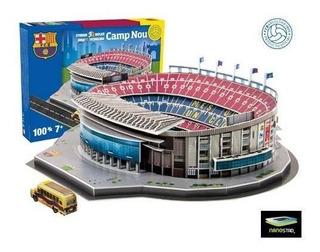 Maqueta Estadio 3d Para Armar Con Luces Cancha Barcelona !!