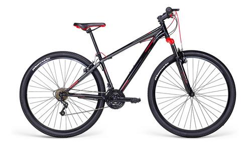 Imagen 1 de 2 de Mountain bike Mercurio Kaizer MTB  2020 R29 21v frenos v-brakes color negro brillante/rojo