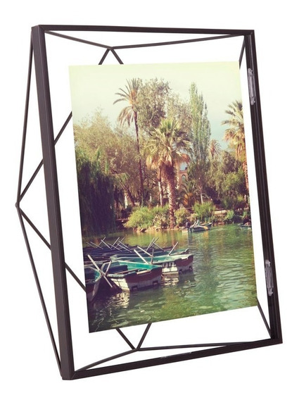 Porta Retrato Prisma 20x25 Cm Preto Umbra Umbra