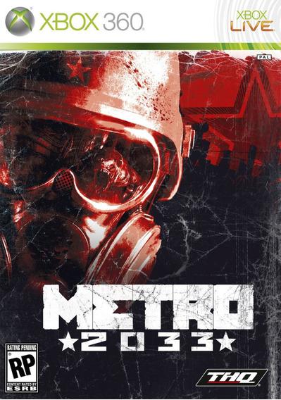 Metro 2033 P/ Xbox 360 Original Frete $14