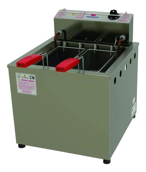 Fritadeira industrial Progás PR-100 E prata 220V