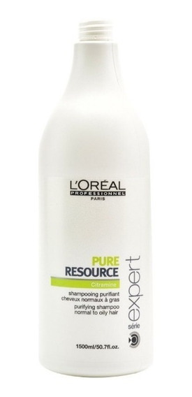 Shampoo Loreal Pure Resource Purificante 1.5 Lt 1500 Ml
