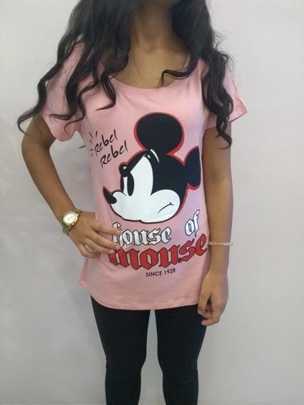 Camiseta Blusa Mickey Várias Cores Oferta