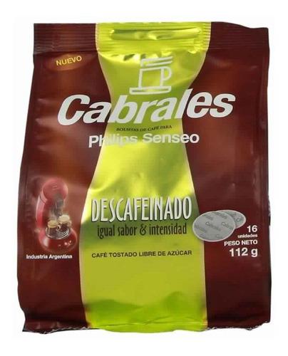 Cafe Cabrales Descafeinado Hd1284 Philips Senseo Capsula