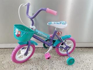 Bicicleta Frozen Rodado 12 Disney Cuadro De Acero