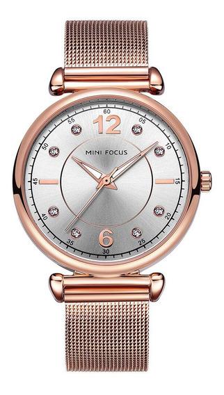 Reloj De Dama Minifocus 0177pg Acero De Mujer /3gwatches