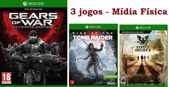 Gears Of War Ultimate, Tomb Raider, State Of Decay Xbox One