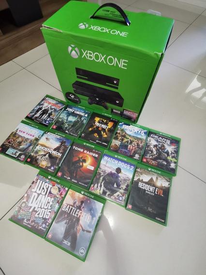 Xbox One 500gb + Kinect E Jogos Disponíveis. Leia O Anúncio.