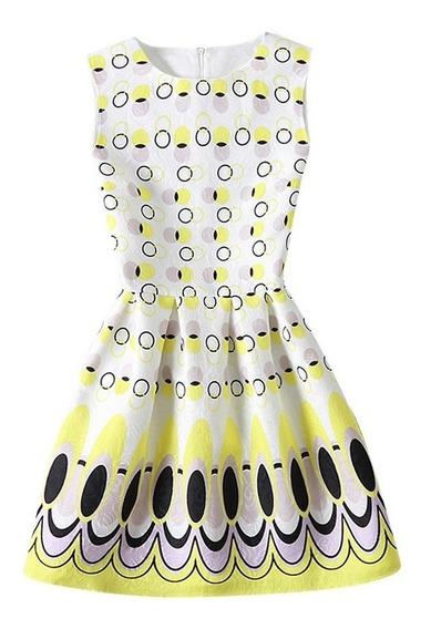 Vestido Infantil Estampado P Meninas 06 08 10 12 14 16 Anos