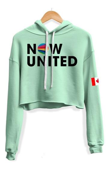 Cropped Moletom Now United Josh Beauchamp 14 Bandeira Canada
