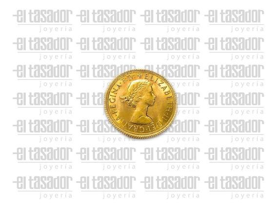 Moneda De Oro 22 K Libra Esterlina *joyeriaeltasador*