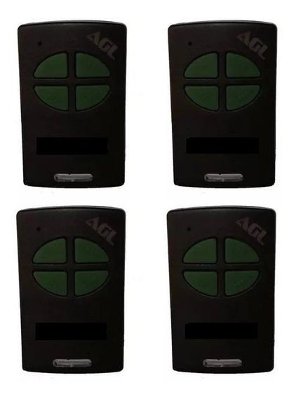 4 Controles Remoto Para Agl 4 Canais 433 Mhz Code Learn Nota