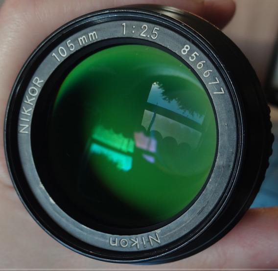 Lente Nikon Nikkor 105mm F/2.5 Ai (leia A Descrição)