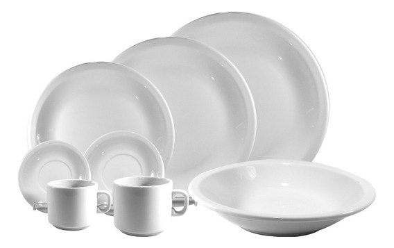 Set Vajilla 30 Piezas | Porcelana Blanca Schmidt