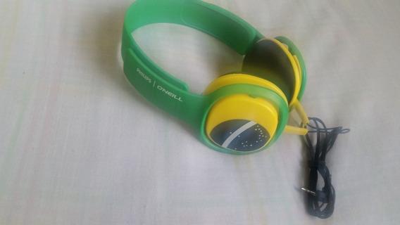 Fone De Ouvido Philips Oneill Cruz Brasil Sho3300bz Original