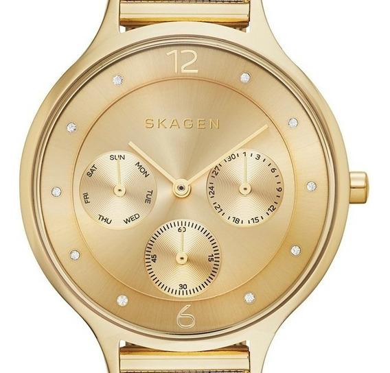 Relógio Skagen Feminino Dourado Skw2313/z