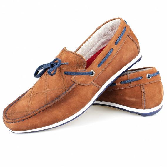Sapato Masculino Casual Drive Mocassim Em Couro Confortável