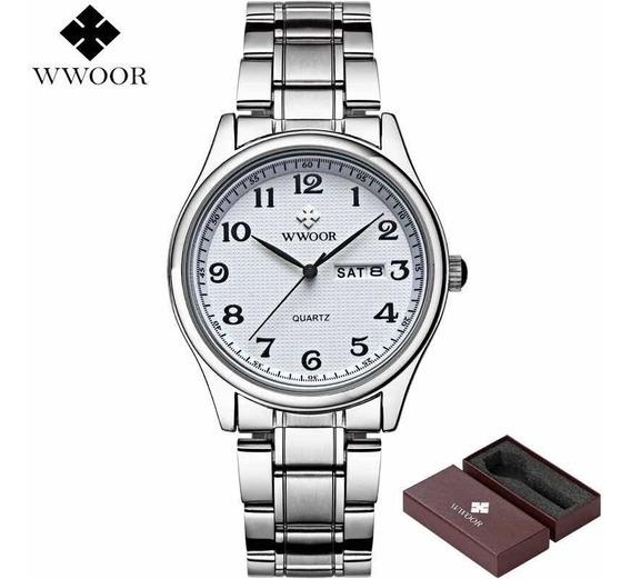 Relógio Masculino Wwoor 8805 Original Social Luxo Nf-e