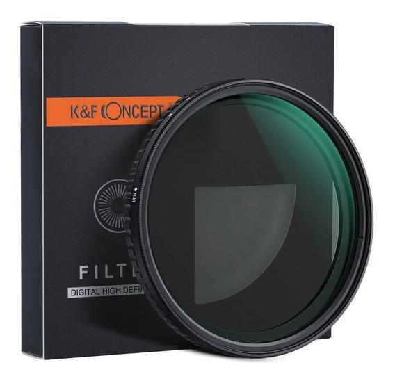 Filtro Nd K&f 77mm Nd2-nd32 Alta Definição Canon Nikon Sony
