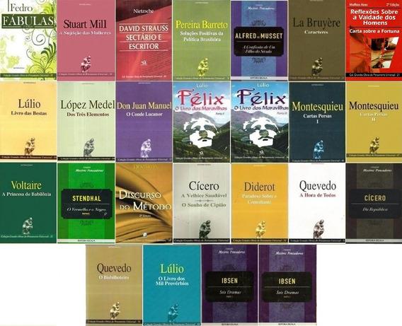 Lote 25 Livros Pensadores Filosofia Sociologia Promoção