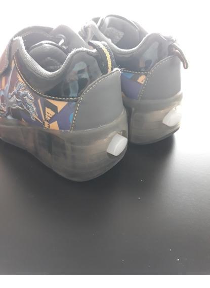 Zapatillas Con Ruedas Y Luces Importadas - Batman - Talle 28