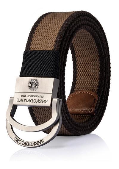 Cinturón Táctico Militar De 125 Cm Para Hombre De Lona De Do