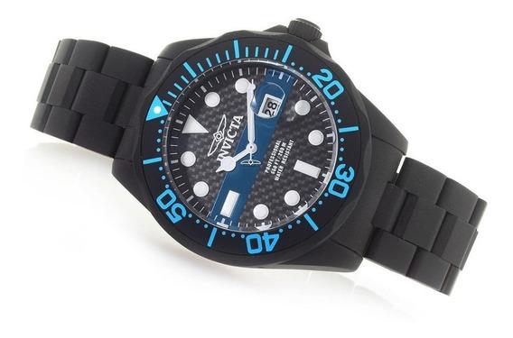 Reloj Invicta Pro Diver 25242 Fibra Carbono Tiempo Exacto