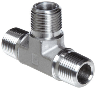 Parker Stainless Steel 316 Pipe Fitting, Tee, 1/4 Npt Male