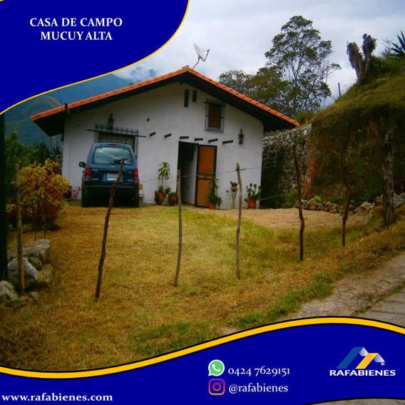 Casa De Campo La Mucuy Alta 1645 Mtrs Terreno. Merida